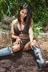 girl wears muddy Hunter Rubber Boots